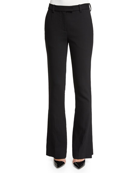 3.1 Phillip Lim Slimming Side-Slit Pants, Black