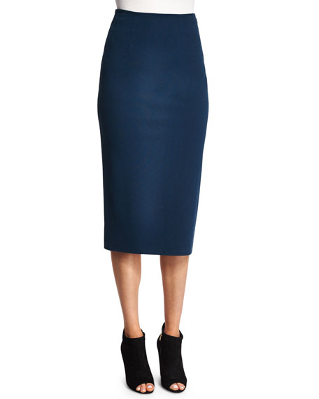 T by Alexander Wang Ponte Pencil Skirt, Marine