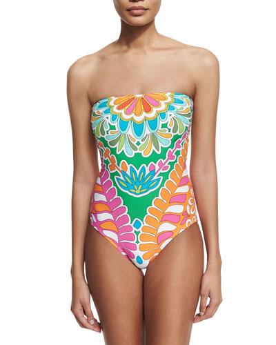 Tamarindo Bandeau One-Piece Swimsuit