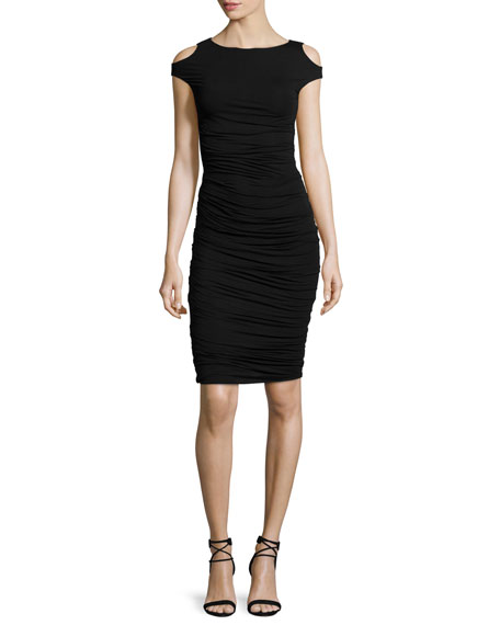 Bailey 44 Cyclades Cold-Shoulder Sheath Dress, Black