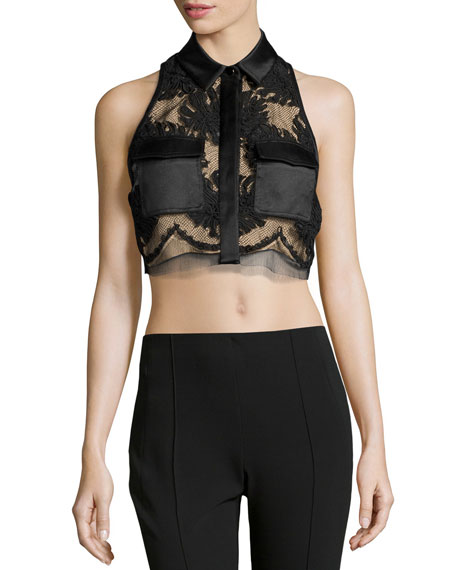 Jason Wu Corded Lace Cropped Shirt