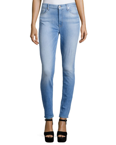 The High-Waist Skinny Jeans, Mediterranean Sky