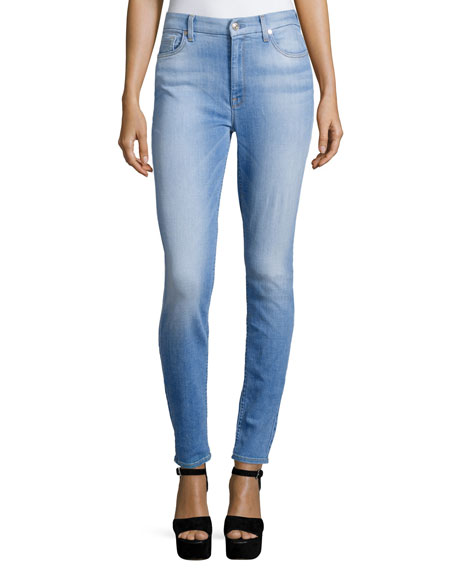 7 For All Mankind The High-Waist Skinny Jeans, Mediterranean Sky