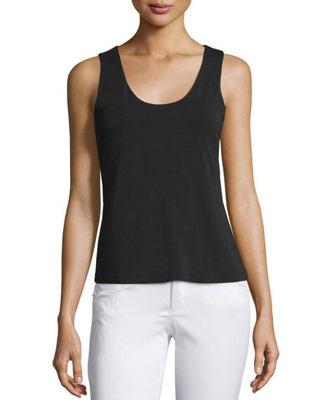 donna karan scoop neck tank w shelf bra black. Black Bedroom Furniture Sets. Home Design Ideas