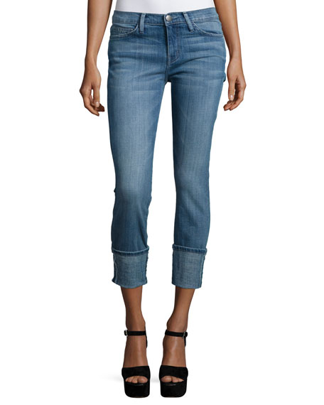 Current/Elliott The Cuffed Skinny Jeans, Armour