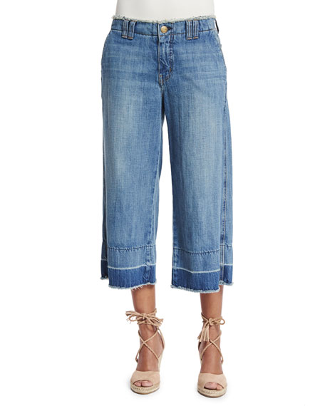 The Cropped Hampden Trousers, Blue