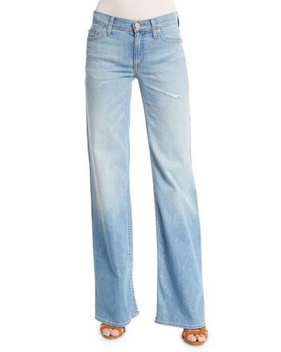 Piper Wide-Leg Jeans, Sky Blossom