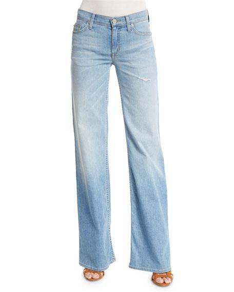 Hudson Piper Wide-Leg Jeans, Sky Blossom