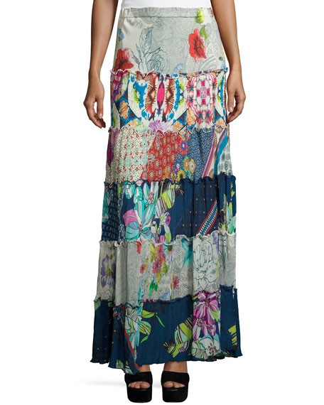 Johnny Was CollectionCherrie Printed Tiered Maxi Skirt