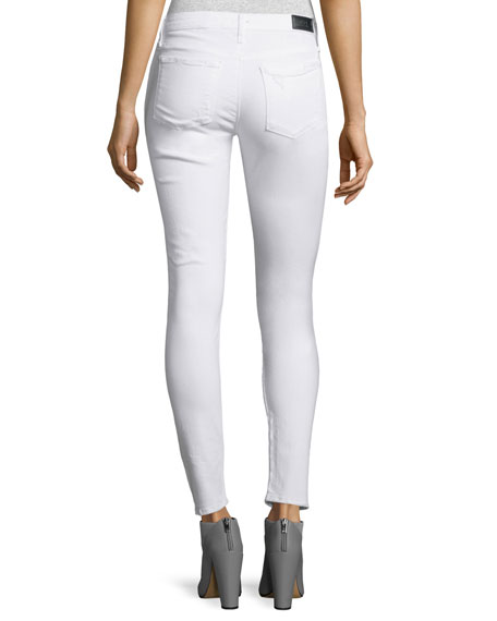 Icon Distressed Skinny Jeans, Whitelash