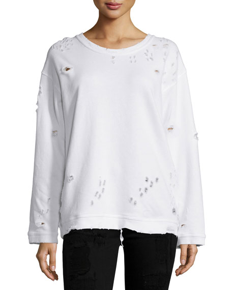 Rta distressed sweatshirt Free Shipping Footlocker Pictures S3hrIB