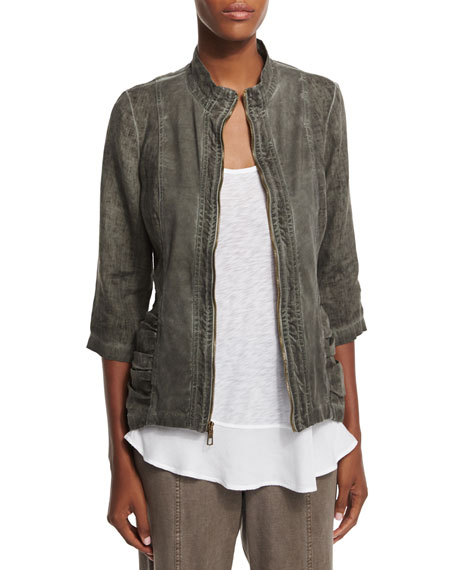 XCVI Bailey Washed Linen Jacket