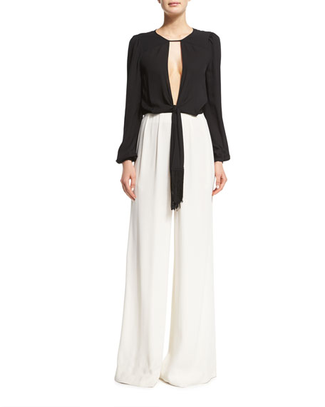 how to find wide long pant measurements