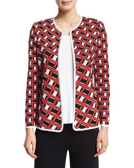 Misook Graphic-Print Short Jacket, Plus Size