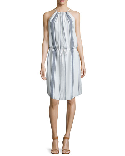 Joie Sief Striped Silk Dress