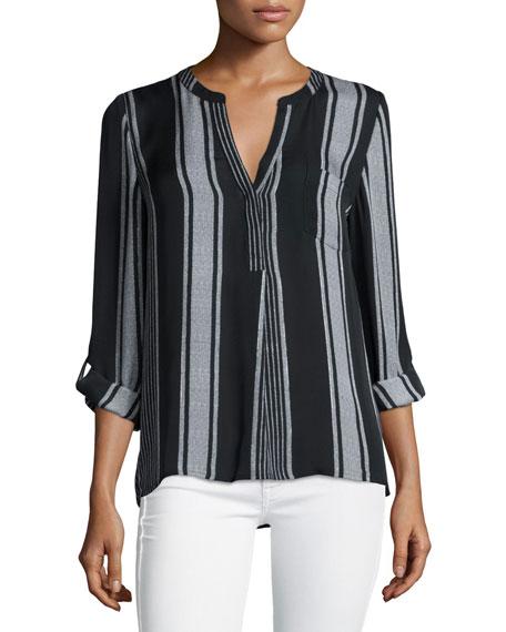 Joie Oden Multi-Striped Silk Top