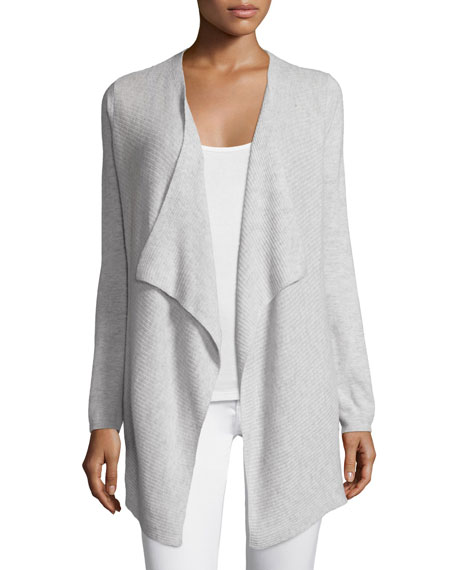 Demonta Wool-Bend Draped Cardigan