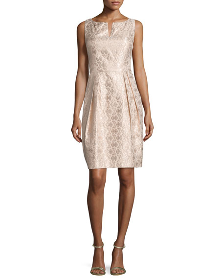 Kay Unger New YorkSleeveless Pleated-Skirt Cocktail Dress, Blush