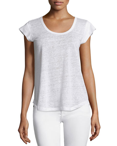 Joie Neyo Short-Sleeve Linen Top