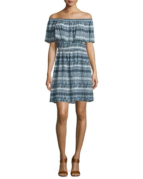 Love Sam Adalyn Off-The-Shoulder Dress, Blue/Multi