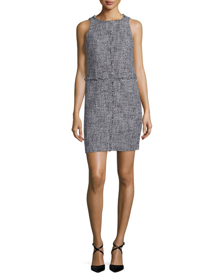 MICHAEL Michael Kors Sleeveless Tweed Shift Dress