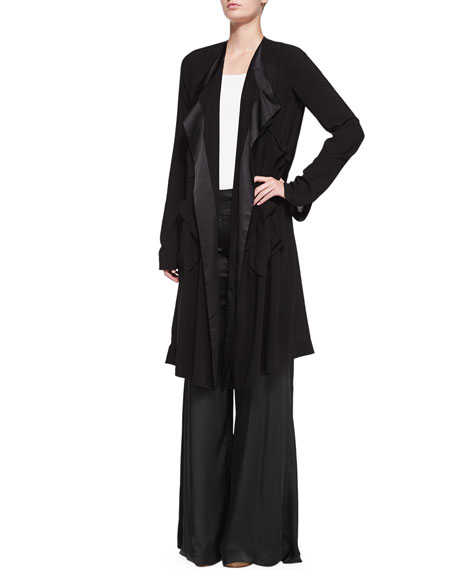 High-Waist Wide Fluid Pants