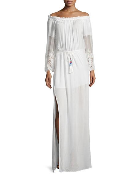 Young Fabulous and Broke Nova Off-The-Shoulder Maxi Dress,