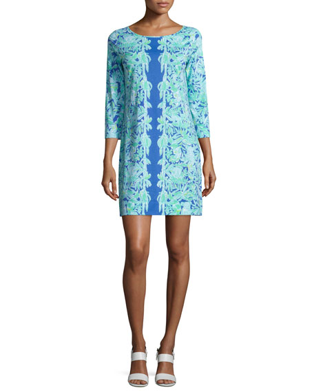 Lilly Pulitzer Marlowe Printed Shift Dress, Poolside Blue