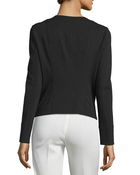 Long-Sleeve Zip-Front Jacket, Black