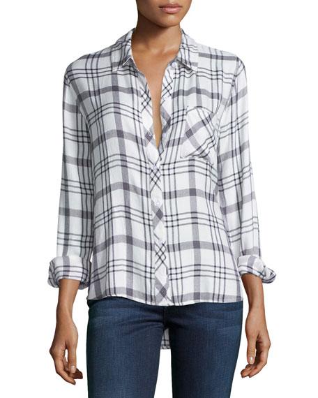 Rails Hunter Plaid Long-Sleeve Shirt, White/Nightfall