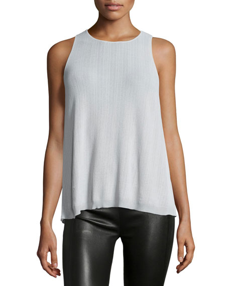 Halston Heritage Split-Back Sweater Tank, Vapor