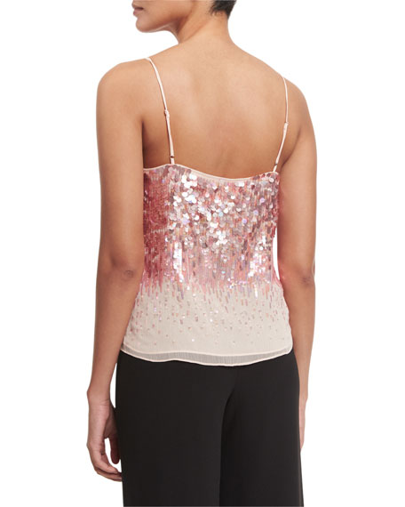 Sleeveless Embellished Top, Sorbet