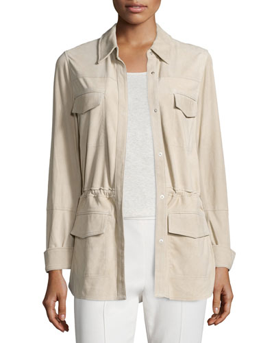 Vince Nubuck Safari Shirt Jacket