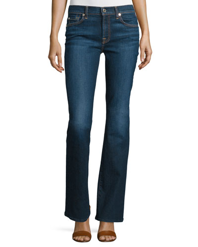 Tailorless Low-Rise Boot-Cut Jeans (Shorter Inseam),, New York Dark
