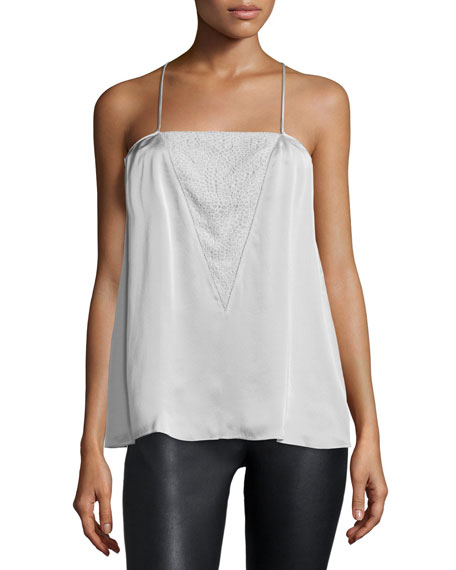 Sleeveless Racerback Top, Vapor