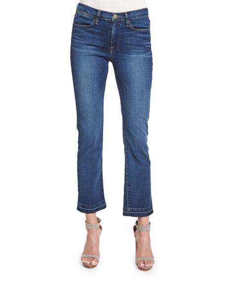 FRAME Le High Straight-Leg Cropped Jeans, Thrasher