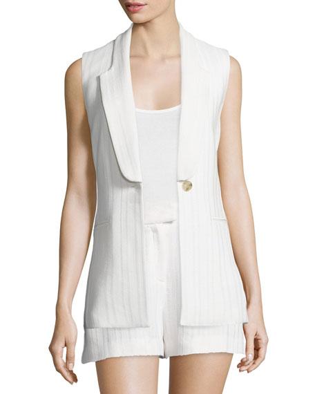 Veronica BeardLucia Long & Lean Vest, White