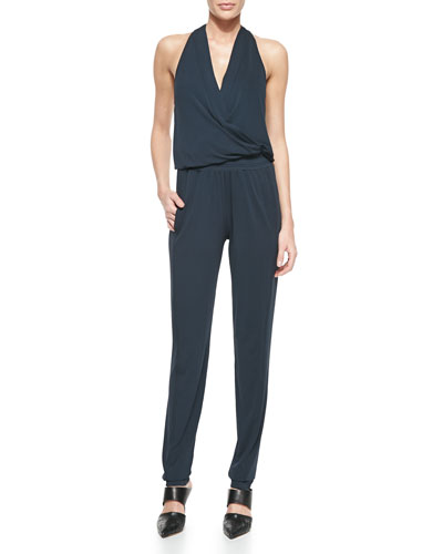 Donna Karan Sleeveless V-Neck Jumpsuit