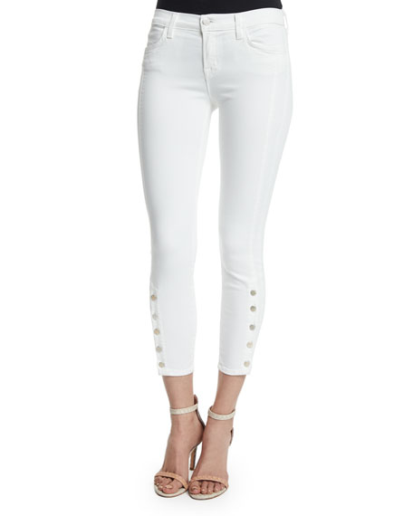 J Brand Jeans Suvi Mid-Rise Utility Cropped Jeans,