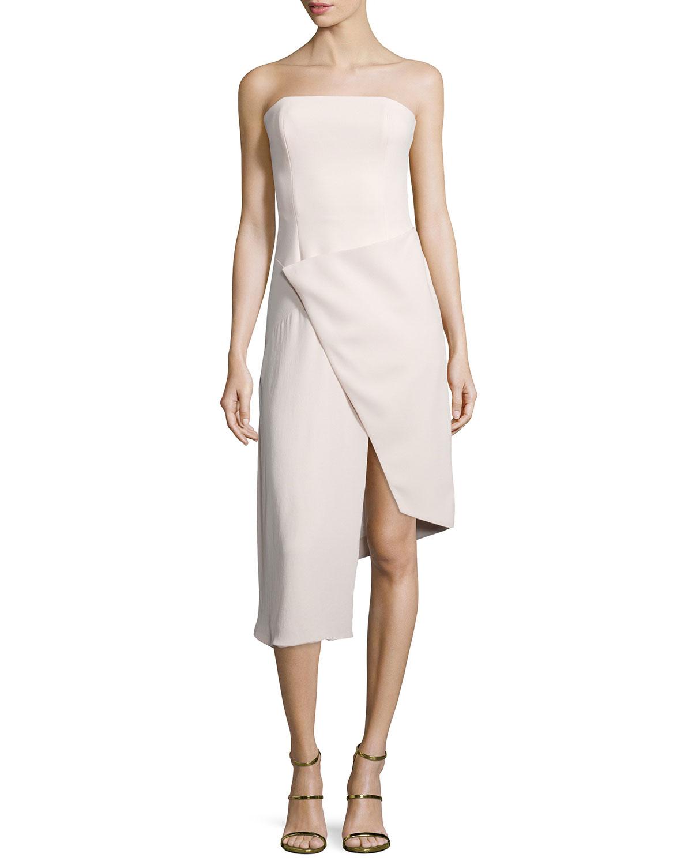 0fe300aceb1c7 NICHOLAS Strapless Front-Wrap Dress   Neiman Marcus