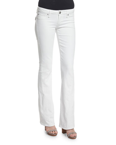 True Religion Joey Low-Rise Flare-Leg Jeans, Optic White