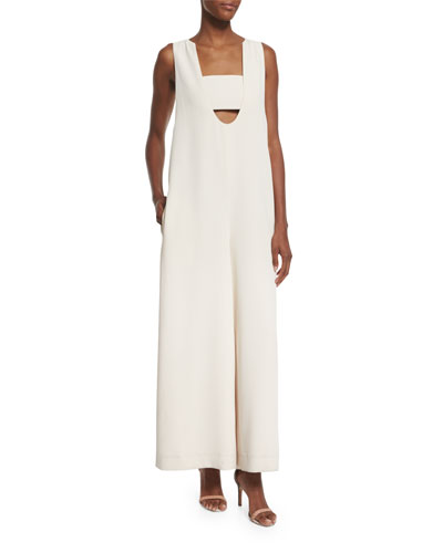 Opening Ceremony Talene Sleeveless Woven Jumpsuit. Sycamore