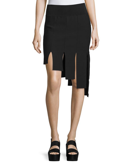 Opening Ceremony Asymmetric Paneled Skirt, Black