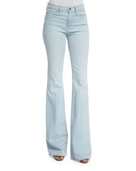 FRAME DENIM Karlie Forever Flare-Leg Jeans, Motz