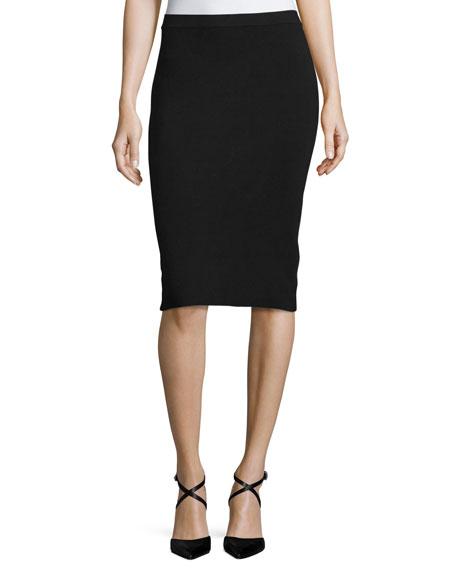 MICHAEL Michael Kors Sweater-Knit Knee-Length Pencil Skirt