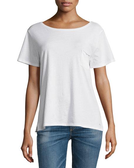 rag & bone/JEAN X-Boyfriend Short-Sleeve Tee, Bright White