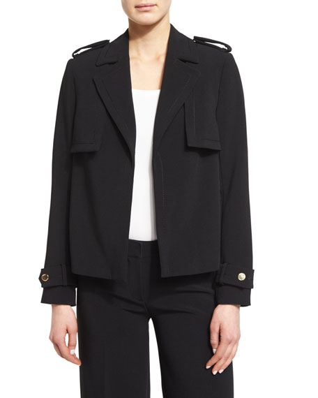 MICHAEL Michael Kors Double Storm-Flap Open Military Jacket,