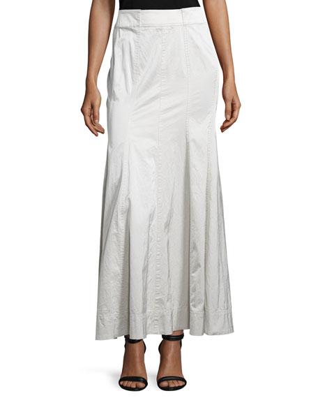 Donna Karan Mid-Rise Gored Skirt, Chalk