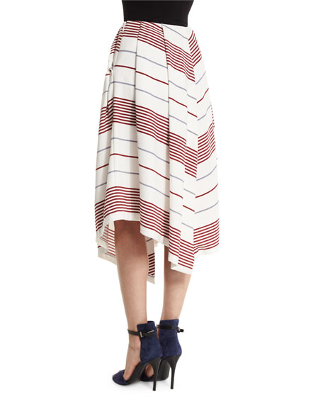 Watson Striped A-Line Skirt, Multi Colors