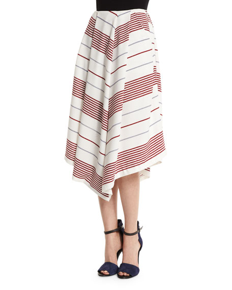 Elizabeth and James Watson Striped A-Line Skirt, Multi